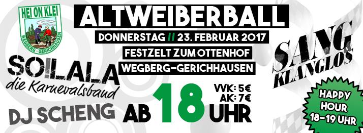 Altweiberball Gerichhausen-Wegberg 2017