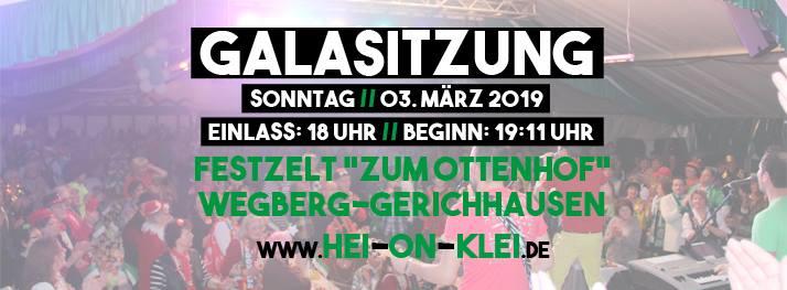 Galasitzung 2019 bei Hei on Klei
