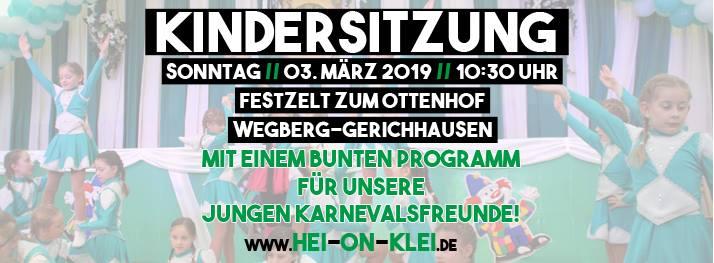 Kindersitzung 2019 bei Hei on Klei