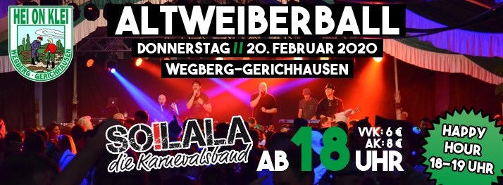 Altweiberball 2020 bei Hei on Klei